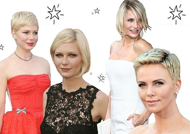 Модные стрижки знаменитостей: Блондинки с короткими стрижками