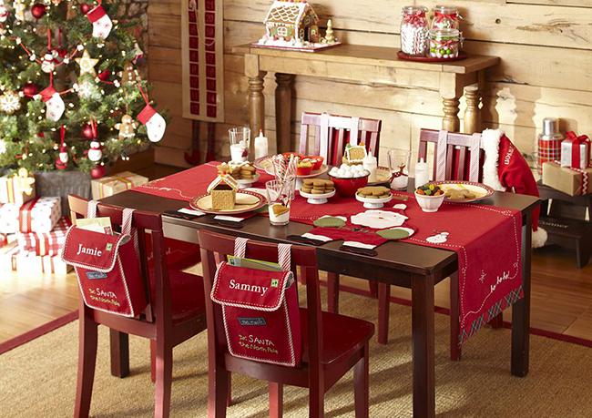 Красивое украшение новогоднего стола