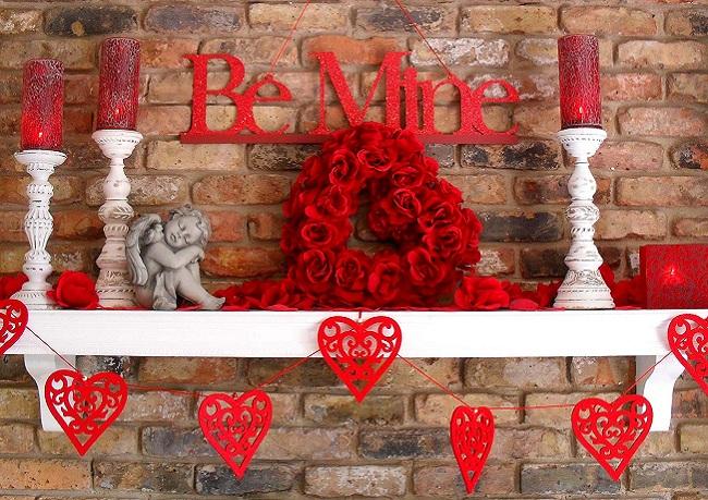 Как украсить на день святого Валентина дом