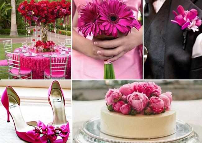 Как устроить свадьбу в цвете фуксия?