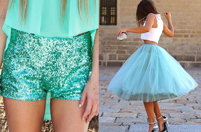 Цвет тиффани в одежде